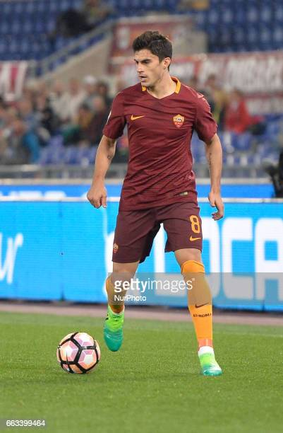 Diego Perotti during the Italian Serie A football match between AS Roma and FC Empoli at the Olympic Stadium in Rome on april 01 2017