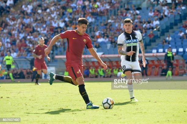 Diego Perotti during the Italian Serie A football match between AS Roma and Udinese at the Olympic Stadium in Rome on september 23 2017
