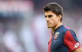 Diego Perotti of Genoa in action during the Serie A match between Genoa CFC and SSC Napoli at Stadio Luigi Ferraris on November 1 2015 in Genoa Italy