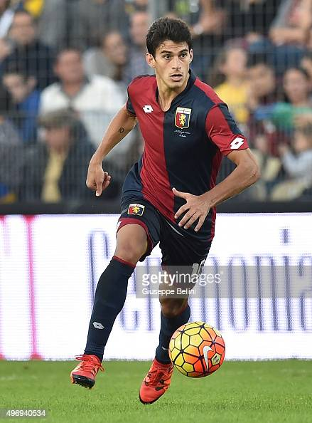 Diego Perotti of Genoa in action during the Serie A match between Frosinone Calcio and Genoa CFC at Stadio Matusa on November 8 2015 in Frosinone...