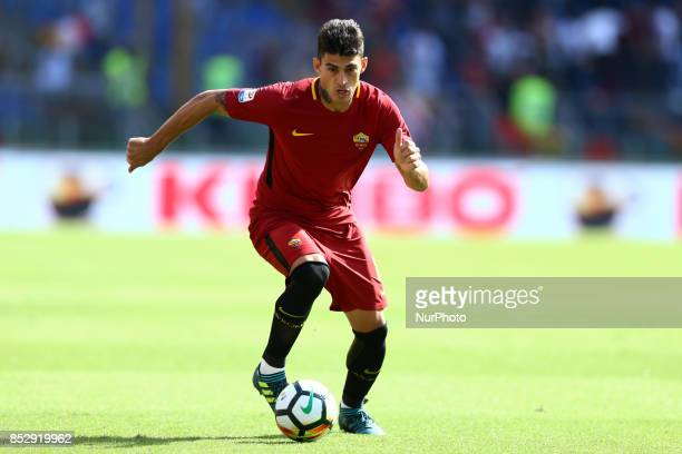 Diego Perotti of Roma during the Italian Serie A football match AS Roma vs Udinese on September 23 2017 at the Olympic stadium in Rome