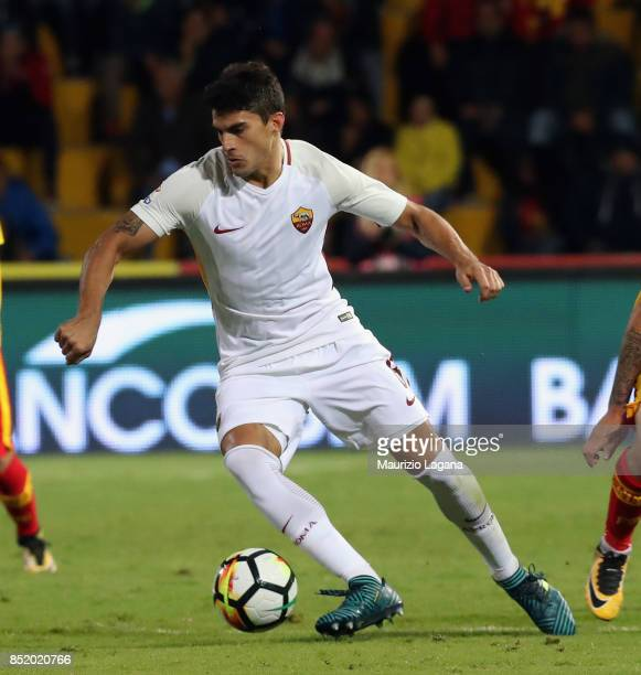 Diego Perotti of Roma during the Serie A match between Benevento Calcio and AS Roma at Stadio Ciro Vigorito on September 20 2017 in Benevento Italy