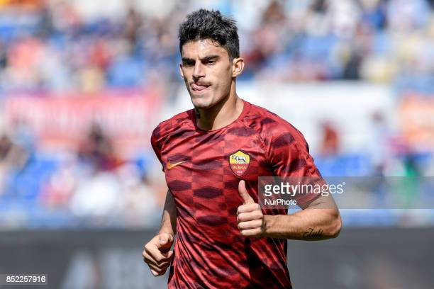 Diego Perotti of Roma during the Serie A match between Roma and Udinese at Olympic Stadium Roma Italy on 23 September 2017