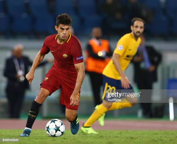 Diego Perotti of Roma during the UEFA Champions League Group C football match between AS Roma and Atletico Madrid on September 12 2017 at the Olympic...