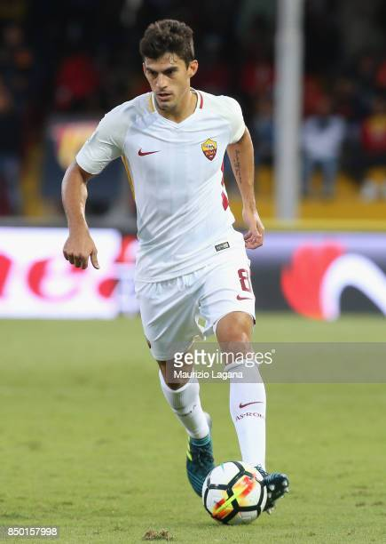 Diego Perotti of Roma runs with the ball during the Serie A match between Benevento Calcio and AS Roma at Stadio Ciro Vigorito on September 20 2017...
