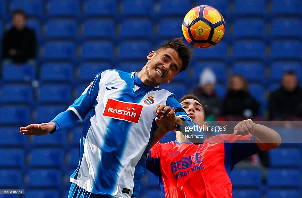 Diego Reyes and Ponce during the match between RCD Espanyol and Granada CF, on January 21, 2017.