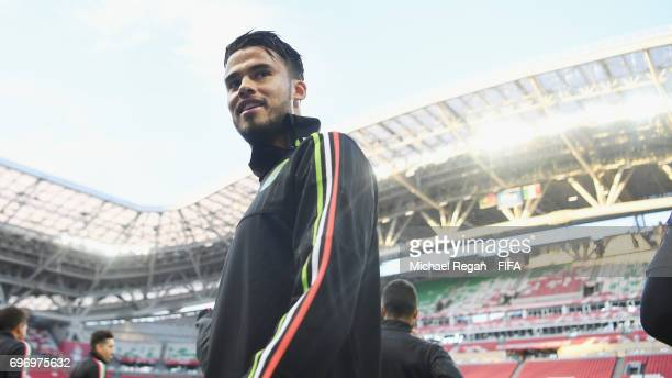 Diego Reyes looks onduring the Mexico Training and Press Conference on June 17 2017 in Kazan Russia