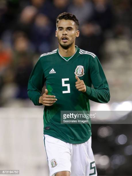 Diego Reyes of Mexico during the International Friendly match between Belgium v Mexico at the Koning Boudewijnstadion on November 10 2017 in Brussel...