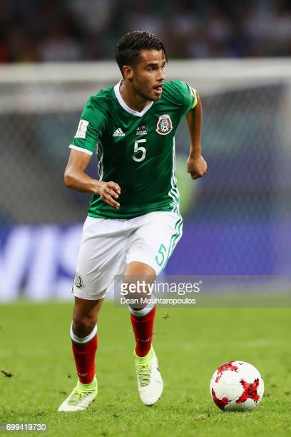 Diego Reyes of Mexico in action during the FIFA Confederations Cup Russia 2017 Group A match between Mexico and New Zealand at Fisht Olympic Stadium...