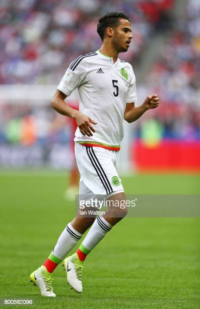 Diego Reyes of Mexico in action during the FIFA Confederations Cup Russia 2017 Group A match between Mexico and Russia at Kazan Arena on June 24 2017...