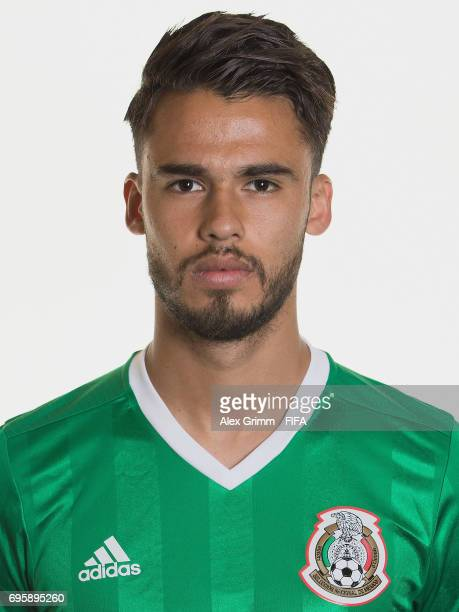 Diego Reyes poses for a picture during the Mexico team portrait session on June 14 2017 in Kazan Russia