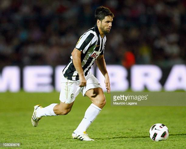 Diego Ribas da Cunha of Juventus FC in action during the pre season friendly match between Juventus FC and Olimpic Lyon at Stadio San Vito on July 24...