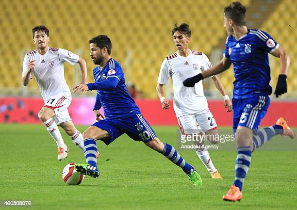 Diego Ribas of Fenerbahce in action during the Ziraat Turkish Cup football match between Fenerbahce and Altinordu at the Sukru Saracoglu Stadium in...