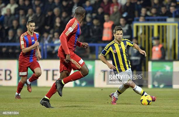 Diego Ribas of Fenerbahce vies for ball during Turkish Spor Toto Super League football match between Kardemir Karabukspor and Fenerbahce in Karabuk...