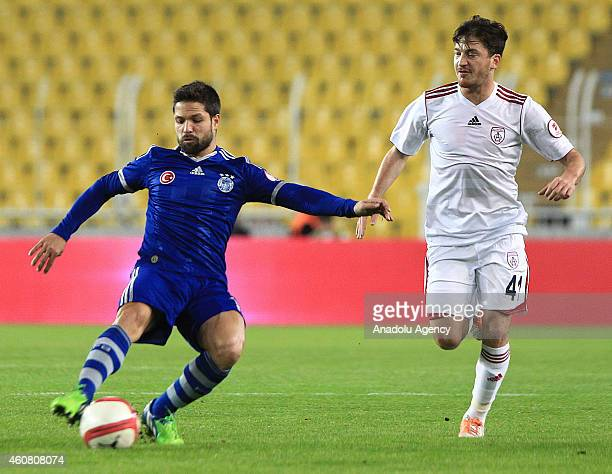 Diego Ribas of Fenerbahce vies with Berkay Samanci of Altinordu during the Ziraat Turkish Cup football match between Fenerbahce and Altinordu at the...