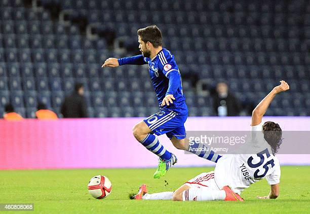 Diego Ribas of Fenerbahce vies with Serkan Goksu of Altinordu during the Ziraat Turkish Cup football match between Fenerbahce and Altinordu at the...
