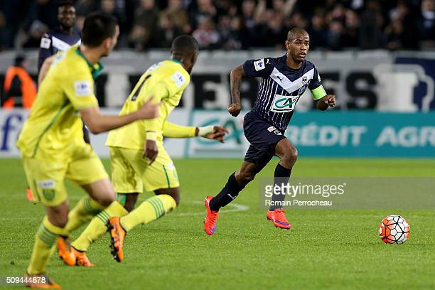 Diego Rolan for FC Girondins de Bordeaux in action during the French Cup match between FC Girondins de Bordeaux and FC Nantes at Stade Matmut...