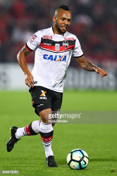 Diego Rosa of Atletico GO controls the ball during a match between Flamengo and Atletico GO part of Brasileirao Series A 2017 at Ilha do Urubu...