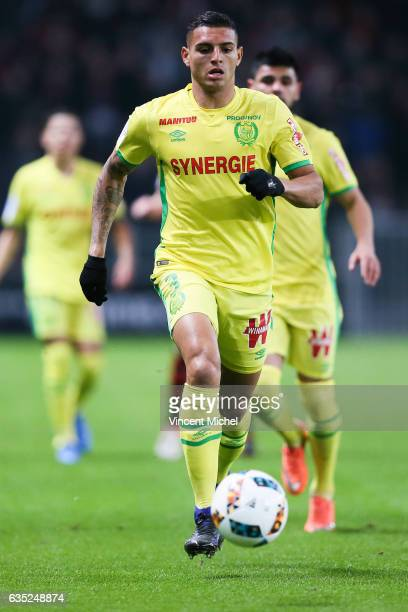 Diego Santos Silva of Nantes during the French Ligue 1 match between Rennes and Nantes at Stade de la Route de Lorient on January 28 2017 in Rennes...