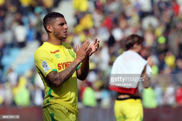 Diego Santos Silva of Nantes during the Ligue 1 match between Fc Nantes and Girondins Bordeaux at Stade de la Beaujoire on April 16 2017 in Nantes...