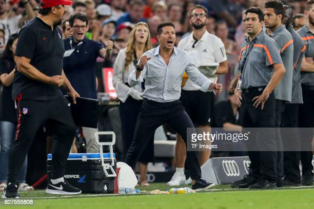 Diego Simeone of Atletico Madrid schlussjubel during the Audi Cup 2017 match between Liverpool FC and Atletico Madrid at Allianz Arena on August 2...
