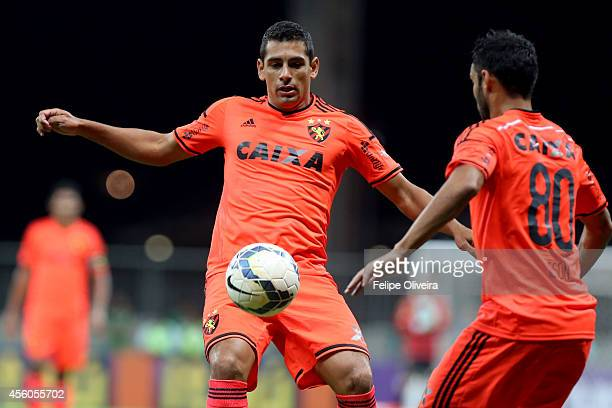 Diego Souza of Sport Recife in action during the match between Bahia and Sport Recife as part of Brasileirao Series A 2014 at Arena Fonte Nova on...