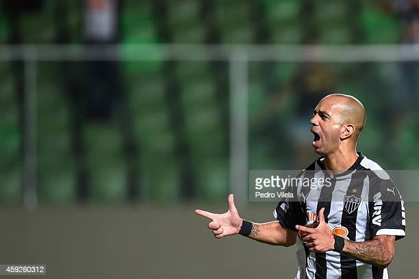 Diego Tardelli of Atletico MG celebrates a scored goal against Flamengo during a match between Atletico MG and Flamengo as part of Brasileirao Series...