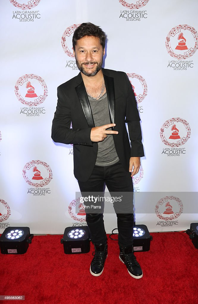Diego Torres arrives at the Latin GRAMMY Acoustic Session Miami with Diego Torres at New World Center on November 3, 2015 in Miami Beach, Florida.