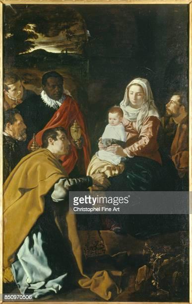 Diego Velazquez The Adoration of the Magi 1619 Oil on canvas 203 x 125 m Madrid museo del Prado