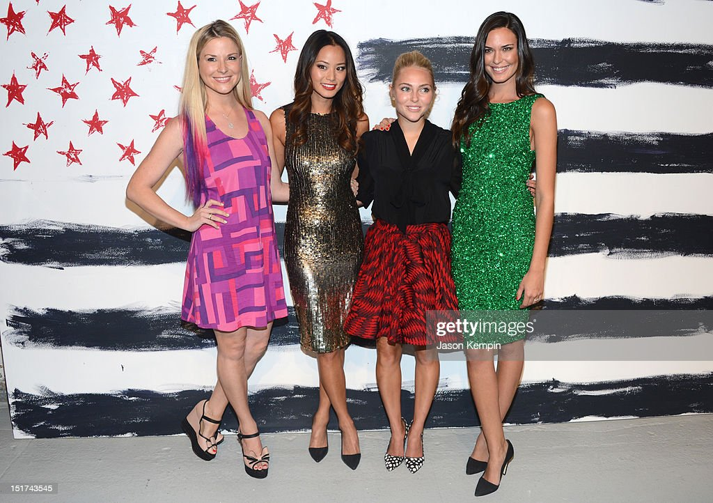 Diem Brown, Jamie Chung, AnnaSophia Robb, and Odette Annable attend Alice + Olivia By Stacey Bendet Spring 2013 Mercedes-Benz Fashion Week at Century 548 on September 10, 2012 in New York City.