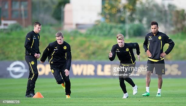 Dienstag 1 Fussball Bundesliga Saison 13/14 in La Manga / SpanienBV Borussia Dortmund im Trainingslager La Manga in SpanienSven Bender und Marco Reus