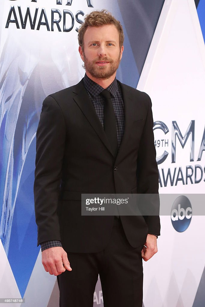 Dierks Bentley attends the 49th annual CMA Awards at the Bridgestone Arena on November 4 2015 in Nashville Tennessee