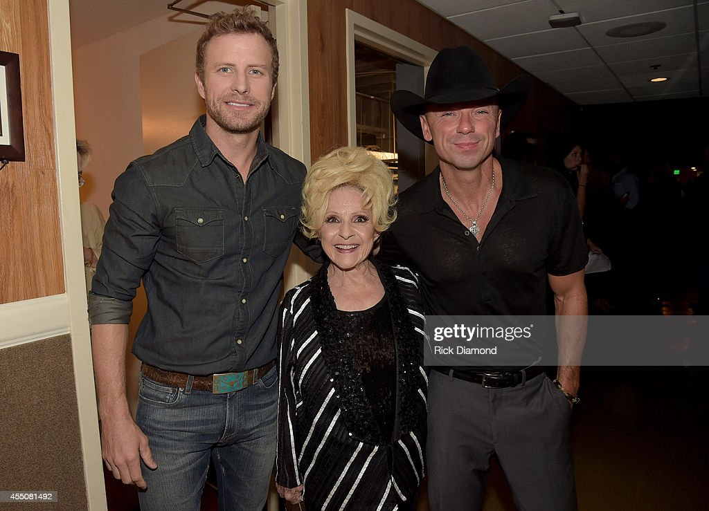 Dierks Bentley Brenda Lee and Kenny Chesney attend the 8th Annual ACM Honors at Ryman Auditorium on September 9 2014 in Nashville Tennessee