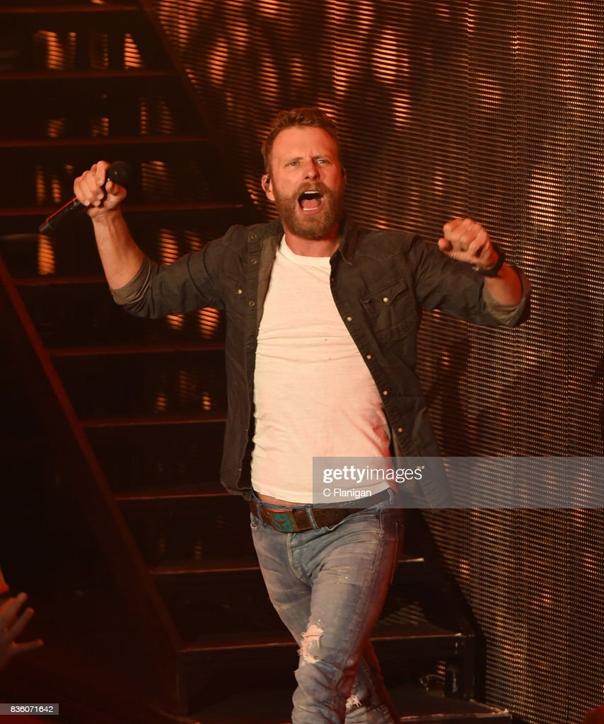 Dierks Bentley performs during his 'What The Hell' world tour at Shoreline Amphitheatre on August 20, 2017 in Mountain View, California.