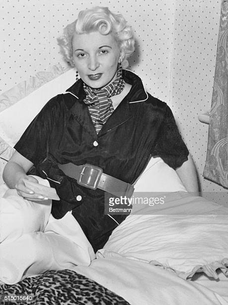 Dies on Gallows in London Holloway Prison London England Twentyeight year old Ruth Ellis shown in a photo made prior to her arrest died on the...