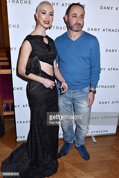 Diese and Dany Atrache attend the Dany Atrache Spring Summer 2016 show as part of Paris Fashion Week on January 25 2016 in Paris France
