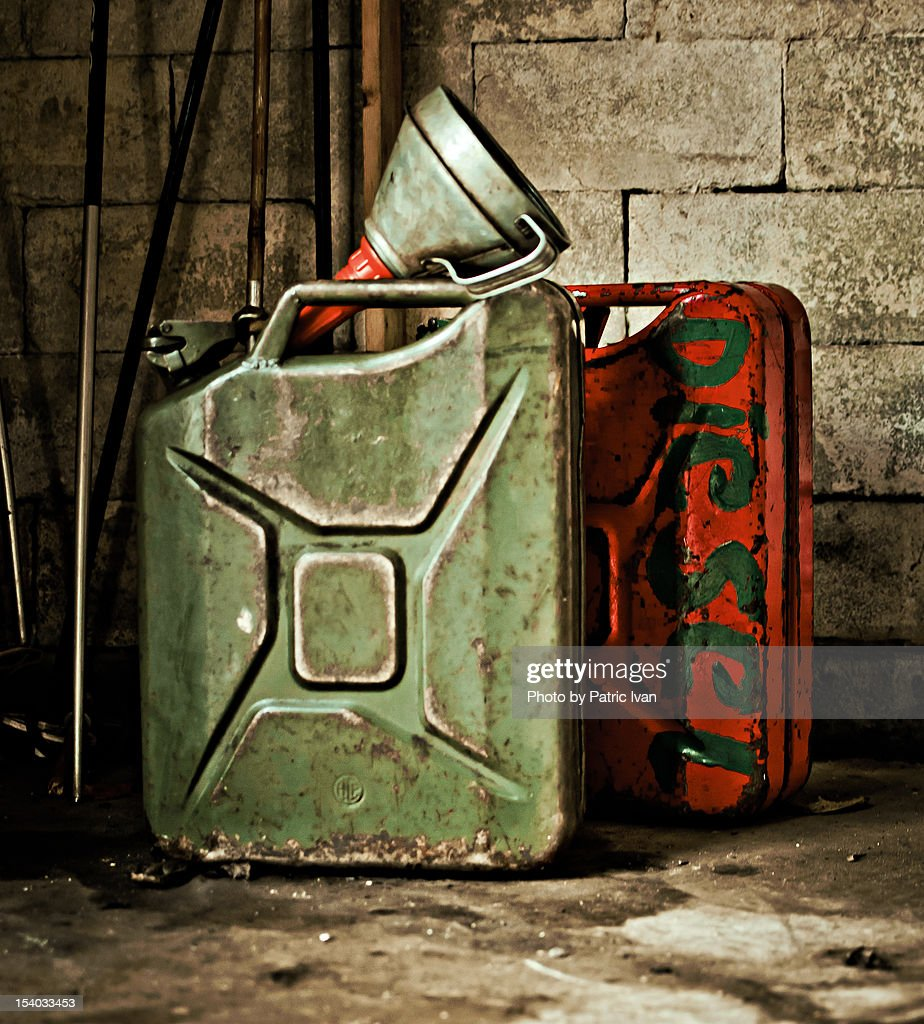 Diesel and petrol cans
