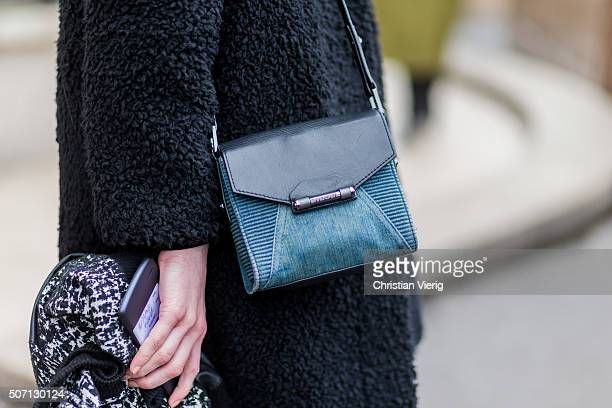 A Diesel bag outside Elie Saab during the Paris Fashion Week Haute Couture Spring/Summer 2016 on January 27 2016 in Paris France
