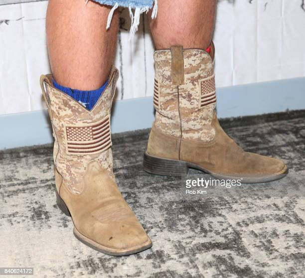Diesel Dave boot detail at Build Studio on August 29 2017 in New York City