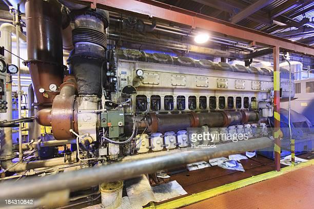 Dieselmotor mit turbocharger in eine elektrische generation plant