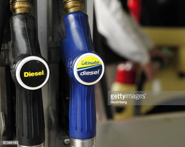 Diesel gas pumps sit in place at a fuel station in London UK on Tuesday Oct 27 2009 BP Plc Europe�s secondlargest oil company posted thirdquarter...