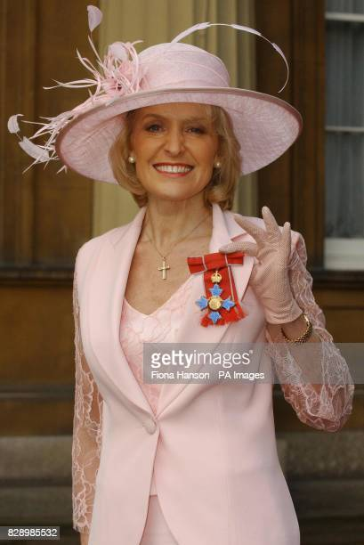 Diet and fitness expert Rosemary Conley with her CBE after she was invested by the Prince of Wales at Buckingham Palace London Ms Conley from Melton...
