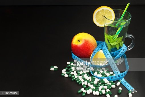 Diet concept. Treatment of obesity. Strict diet. : Stock Photo