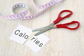 Diet concepts, cutting calories
