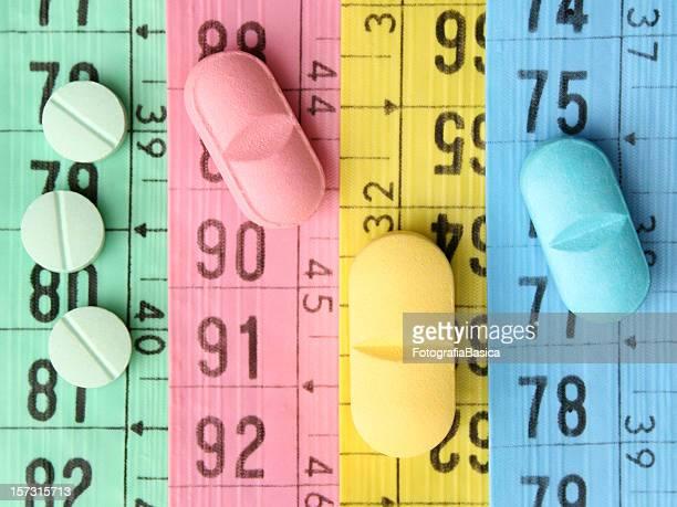 Diet pills concept