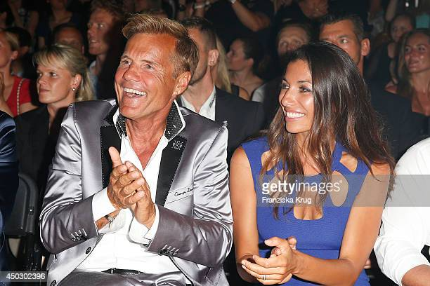 Dieter Bohlen and Carina Walz attend the 'Fashion World Camp David und Soccx' Store Opening on June 08 2014 in Rust Germany