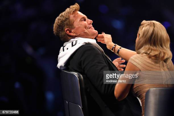 Dieter Bohlen and Michelle during the finals of the tv competition 'Deutschland sucht den Superstar' at Coloneum on May 6 2017 in Cologne Germany