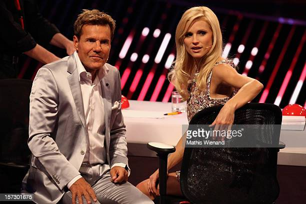 Dieter Bohlen and Michelle Hunziker attend the First Live Show of 'Das Supertalent' on December 1 2012 in Cologne Germany