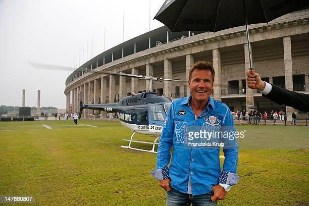 Dieter Bohlen arrives at Camp David show at Olympia stadium at MercedesBenz Fashion Week Spring/Summer 2013 on July 5 2012 in Berlin Germany