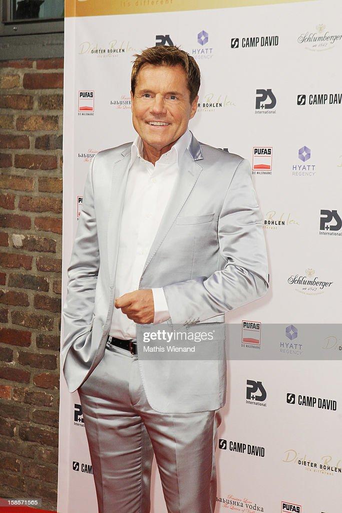 Dieter Bohlen attends the Dieter Bohlen Wallpaper Collection presentation of P&S International at Balloni Halls on December 19, 2012 in Cologne, Germany.